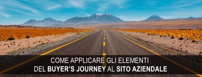 buyer's journey sito aziendale