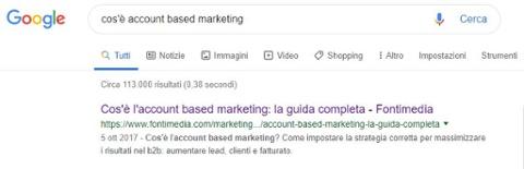 seo copywriting - esempio di meta description
