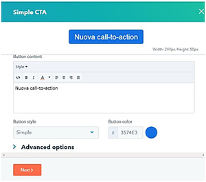 creating cta in hubspot
