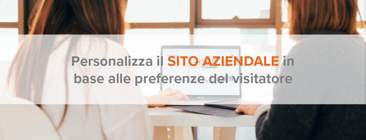 Personalizza il sito aziendale in base alle preferenze del visitatore