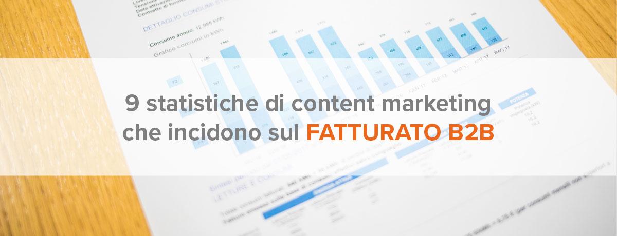 9 statistiche di content marketing che incidono sul fatturato b2b