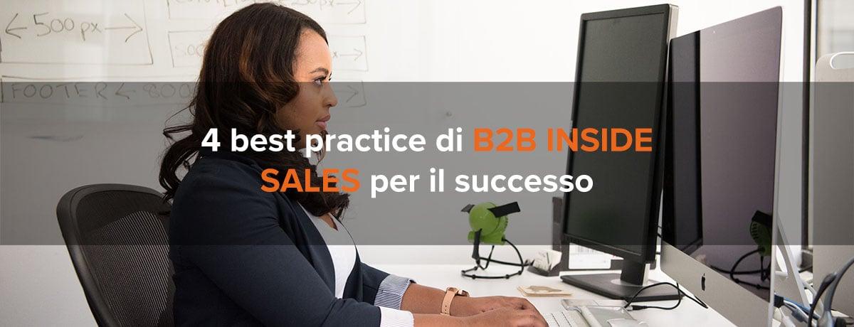 4 best practice di b2b inside sales per garantire il successo