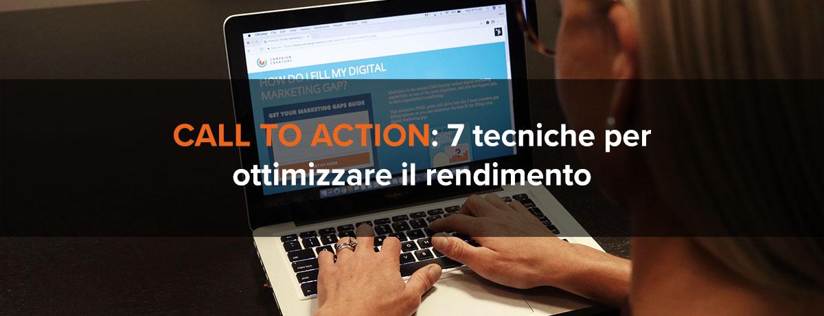 7 tecniche per ottimizzare il rendimento delle call to action