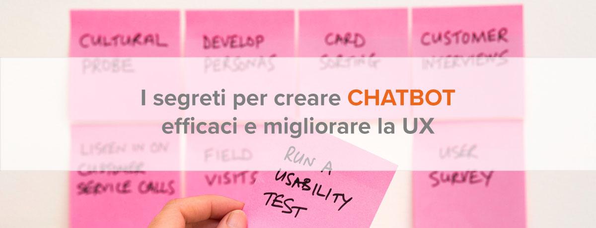 I segreti per creare chatbot efficaci e migliorare la UX