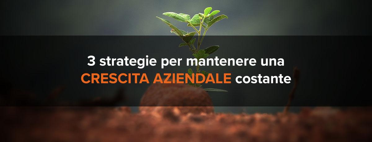 3 strategie per mantenere una crescita aziendale costante