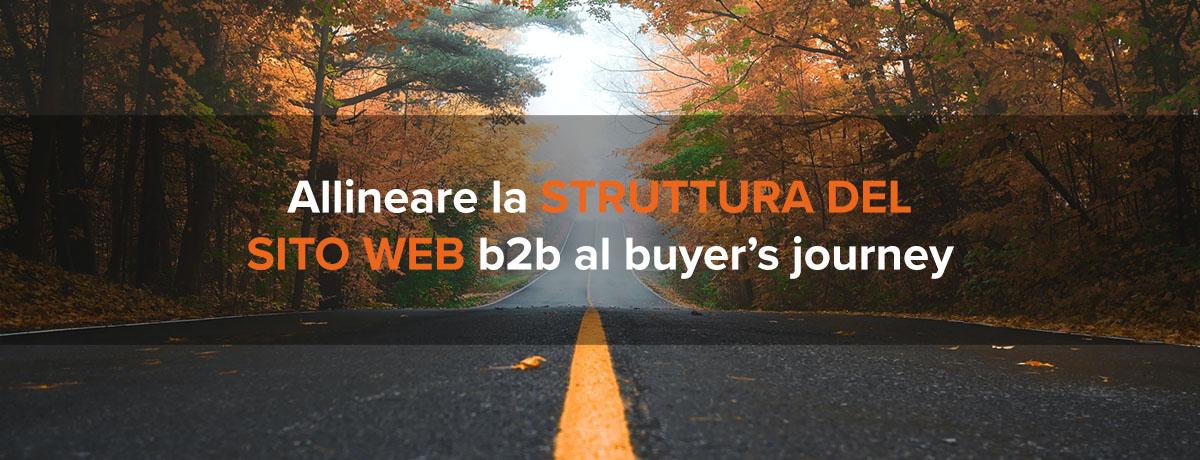 Come allineare la struttura del sito web b2b al buyer's journey