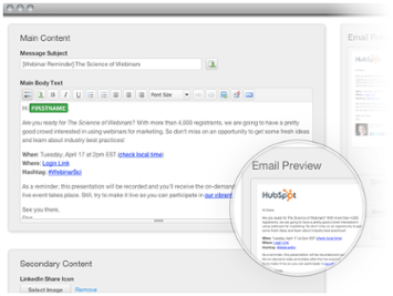 gestione email in hubspot